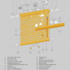 Горизонтальные деревянные жалюзи 25 мм. 3D схема конструкции.