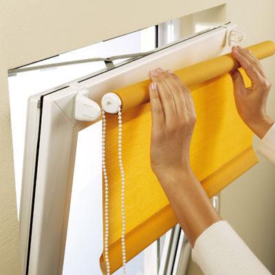 Рулонную штору Мини можно самостоятельно снять при необходимости.